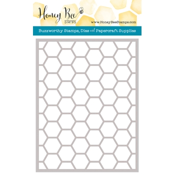 Honey Bee HEXAGON COVER PLATE STIPPLE Die HBDSHXPLT4