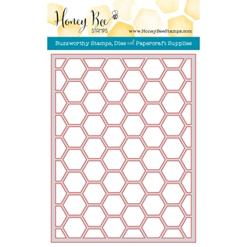 Honey Bee HEXAGON COVER PLATE TOP Die HBDSHXPLT3