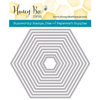 Honey Bee HEXAGON STITCHED STACK Dies HBDSHXSTST