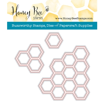 Honey Bee HEXAGON BUNCHES Die HBDSHXBNCH