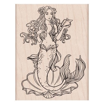Hero Arts Rubber Stamp MERMAID K6229