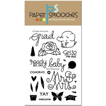 Paper Smooches NEW BEGINNINGS Clear Stamps M2S284