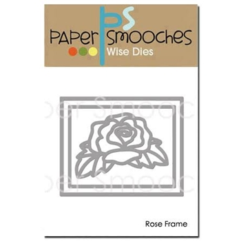 Paper Smooches ROSE FRAME Wise Dies M2D386