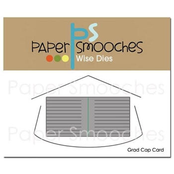 Paper Smooches GRAD CAP CARD Wise Die M2D383