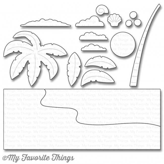 My Favorite Things BEACH SCENE BUILDER Die-Namics MFT1108 zoom image