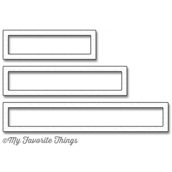 My Favorite Things RECTANGLE WORD WINDOW FRAMES Die-Namics MFT1087