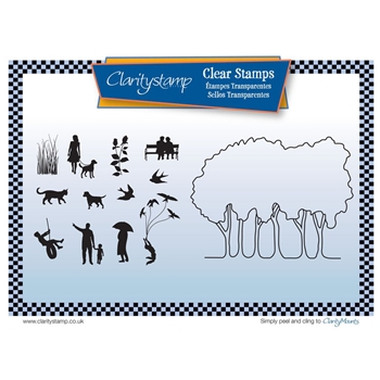 Claritystamp GROVE TREES Clear Stamps and Mask STABI10508A5