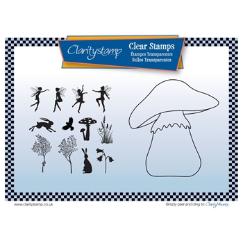 Claritystamp TOADSTOOL OUTLINE Clear Stamps and Mask STABI10510A5