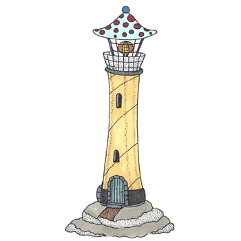 Riley and Company Mushroom Lane LIGHTHOUSE Cling Stamp Set ML-2420