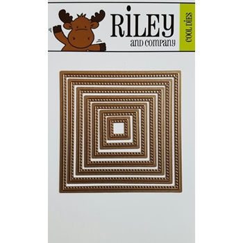 Riley and Company Cool Dies NESTING SQUARE WITH PIERCED DOTS RD13