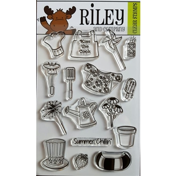 Riley and Company Clear Stamp SUMMER FUN ACCESSORIES RCLR06