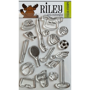 Riley and Company Clear Stamp SPORTS  ACCESSORIES RCLR05