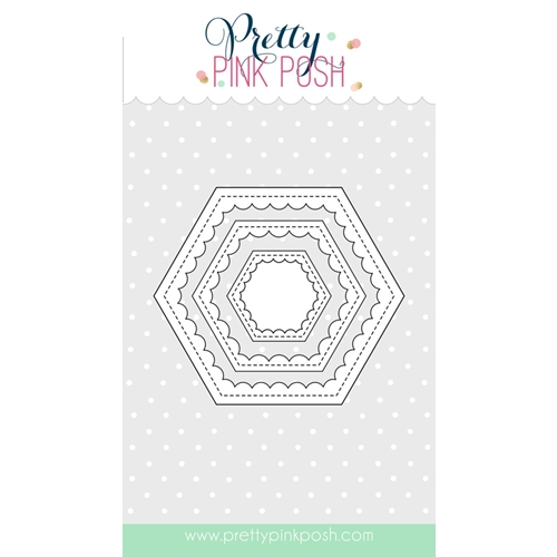 Pretty Pink Posh SCALLOP HEXAGONS Die Set  Preview Image