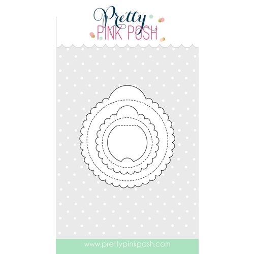 Pretty Pink Posh SCALLOP CIRCLE TAGS Die Set Preview Image