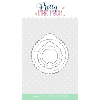 Pretty Pink Posh SCALLOP CIRCLE TAGS Die Set