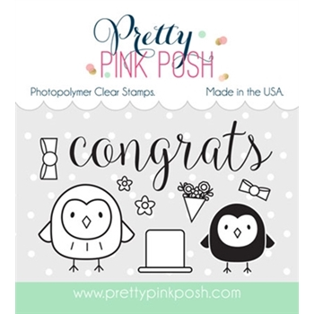 Pretty Pink Posh HAPPY OWLS Clear Stamp Set