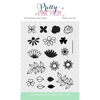 Pretty Pink Posh BOLD BLOOMS Clear Stamp Set