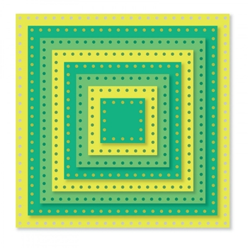 Sizzix Framelits DOTTED SQUARES Wafer Thin Die Set 661841