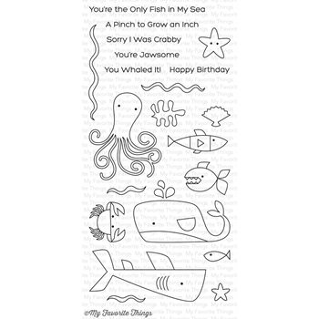 My Favorite Things OCEAN PALS Clear Stamps CS197