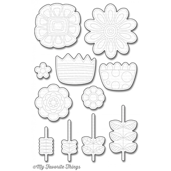 My Favorite Things DOODLED BLOOMS Die-Namics MFT1089