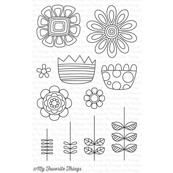 My Favorite Things DOODLED BLOOMS Clear Stamps CS193