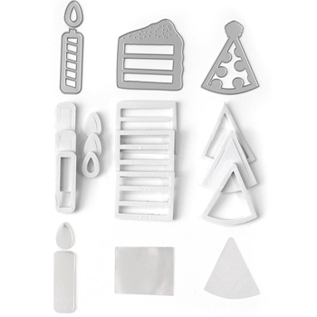 Queen & Company BIRTHDAY Shaker Shape Kit DK1048