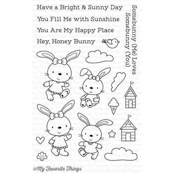 My Favorite Things BEACH BUNNIES Clear Stamps CS202