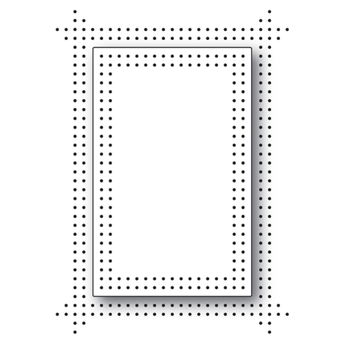 Memory Box PINPOINT DOUBLE FRAME Craft Die 99765 Preview Image