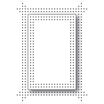 Memory Box PINPOINT DOUBLE FRAME Craft Die 99765