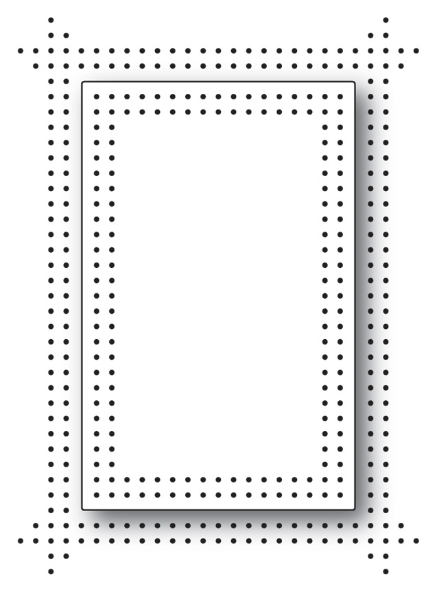 Memory Box PINPOINT DOUBLE FRAME Craft Die 99765 zoom image