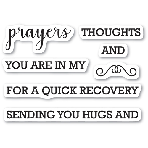 Memory Box Clear Stamps PRAYERS SENTIMENTS Open Studio CL5208 Preview Image