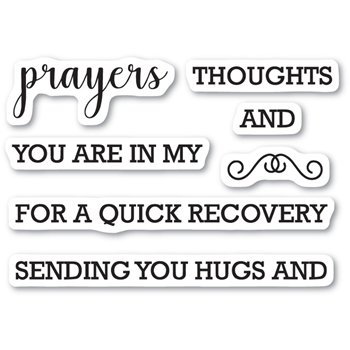 Memory Box Clear Stamps PRAYERS SENTIMENTS Open Studio CL5208