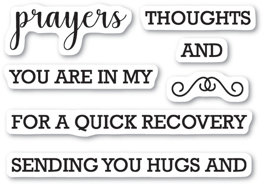 Memory Box Clear Stamps PRAYERS SENTIMENTS Open Studio CL5208 zoom image