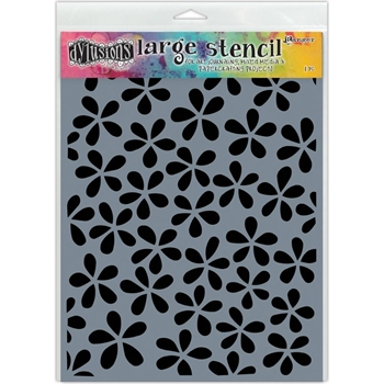 Dyan Reaveley Stencil 9 x 12 FLOWER POP Dylusions DYS52289