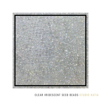 Studio Katia CLEAR IRIDESCENT Seed Beads SK2613