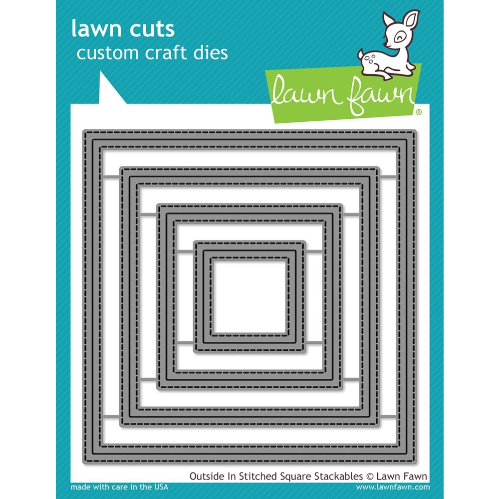 Lawn Fawn OUTSIDE IN STITCHED SQUARE STACKABLES Lawn Cuts LF1443 zoom image