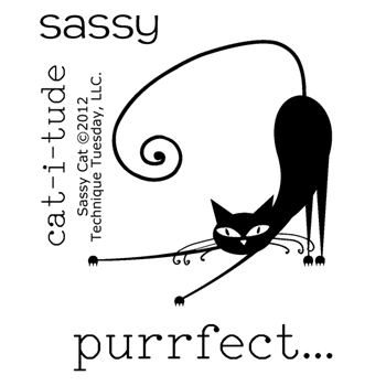 Technique Tuesday SASSY CAT Clear Stamps 00741