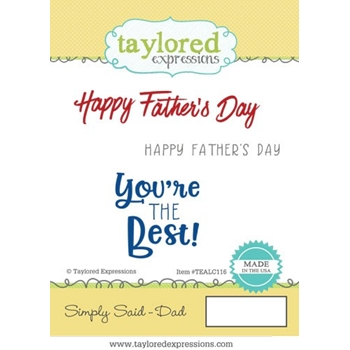 Taylored Expressions SIMPLY SAID DAD Cling Stamp Set TEALC116