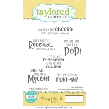 Taylored Expressions PUNNY MAN 2 Cling Stamp Set TEPS219