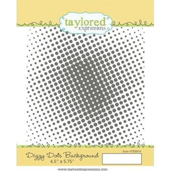 Taylored Expressions DIZZY DOTS BACKGROUND Cling Stamp Set TEBB18