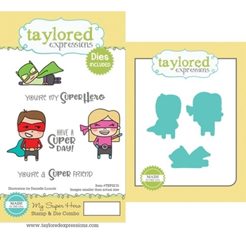 Taylored Expressions MY SUPER HERO Cling Stamp and Die Combo TEPS215