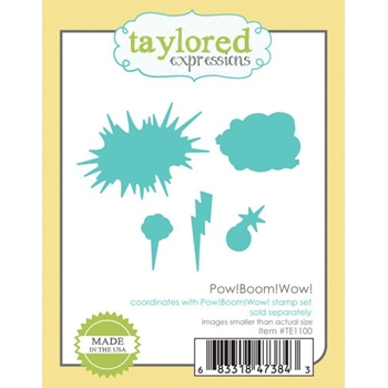 Taylored Expressions POW BOOM WOW Die Set TE1100