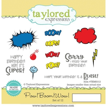 Taylored Expressions POW BOOM WOW Cling Stamp Set TEMS113