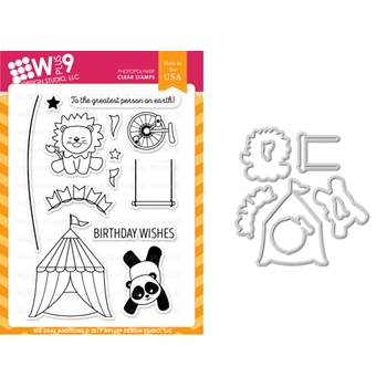Wplus9 BIG DEAL ADDITIONS Clear Stamp And Die Combo WPLUS391