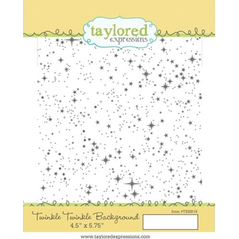 Taylored Expressions TWINKLE TWINKLE Background Cling Stamp TEBB19
