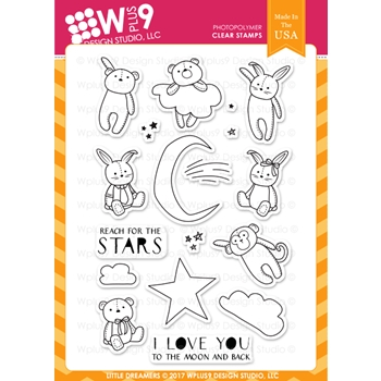 Wplus9 LITTLE DREAMERS Clear Stamps CL-WP9LD