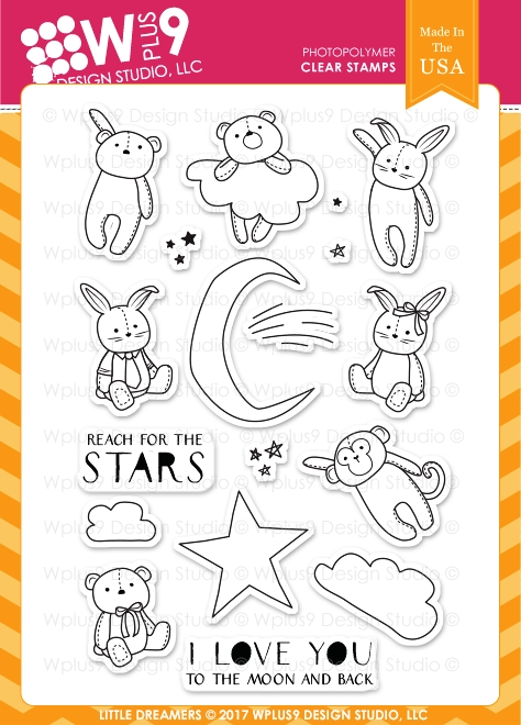 Wplus9 LITTLE DREAMERS Clear Stamps CL-WP9LD zoom image