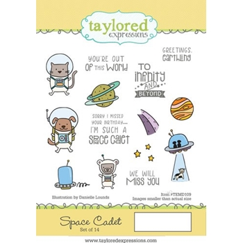 Taylored Expressions SPACE CADET Cling Stamp Set TEMD109