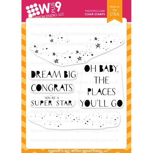 Wplus9 STARDUST Clear Stamps CL-WP9SD Preview Image