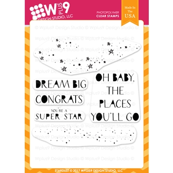 Wplus9 STARDUST Clear Stamps CL-WP9SD
